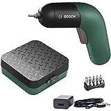 Bosch IXO accuschroevendraaier generatie, groen, geïntegreerde accu met micro-USB-lader, variabele toerentalregeling, in opbergdoos).