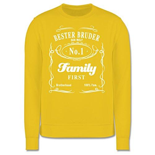 Bruder & Onkel - Bester Bruder Lettering - Herren Premium Pullover Gelb