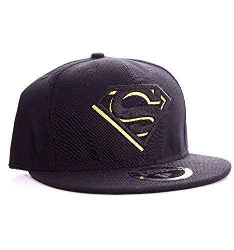 Superman Black/Gold Logo Cap schwarz
