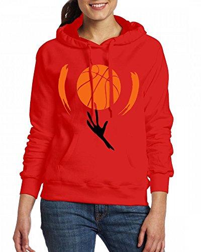 Custom Womens Hooded - Design Basketball Hoodies Red