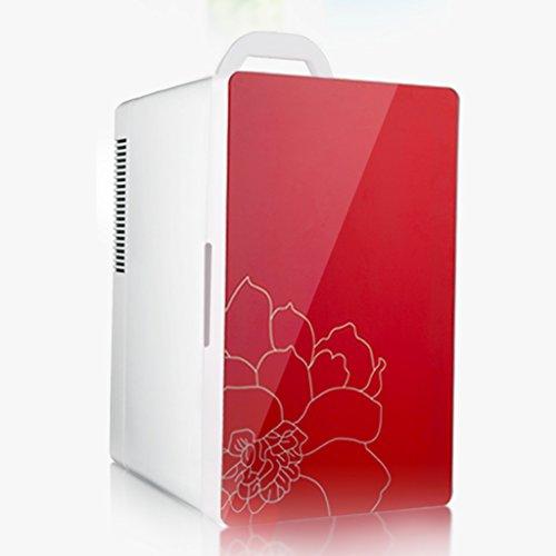 JCOCO Voiture de réfrigérateur de voiture de 16L et double réfrigérateur à la maison (Couleur : Red)