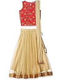 Karigari by Unlimited Girls' A-Line Regular Fit Salwar Suit Set (400017788166)