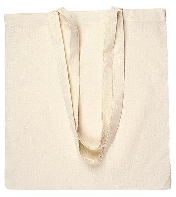 comprare on line 10 BORSE SHOPPER IN COTONE, colore beige, ideale per pittura su stoffa prezzo
