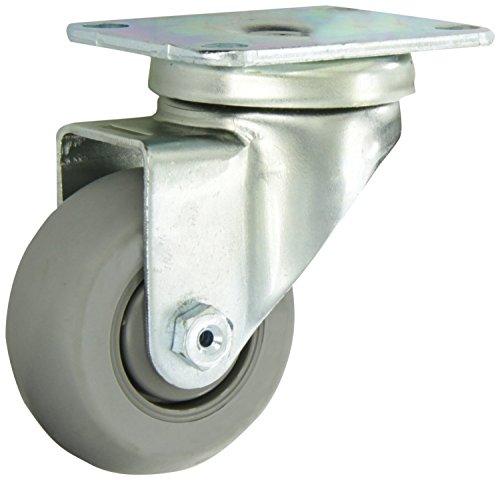8 Rubber on Aluminum Wheel with Side Wheel Brake Tread RWM Casters 46-RAB-0820-S-EHT-WBT 46 Series 9-1//2 High Swivel Caster