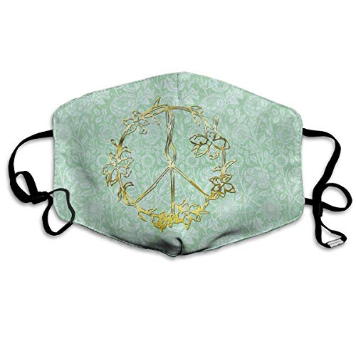 Anti-Staubmaske Mundmasken hdghg Flowers Peace Sign Yin Yang Flower Tattoos and Hippie Unisex Anti Dust Face Mouth Mask for Travel