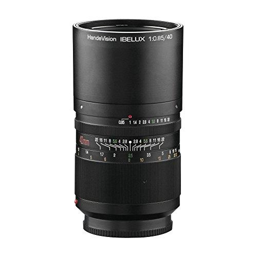 Handevision IBELUX 40mm 1:0,85 Objektiv für Micro Four Thirds MFT Bajonett schwarz (manueller Fokus, für APS-C Sensor gerechnet, IF, Filterdurchmesser 67mm, mit ausziehbarer Gegenlichtblende)