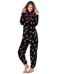Womens Onesie Loungeable Ladies Pyjamas 3D Ears All In One Sleepsuit 262e7b9a6