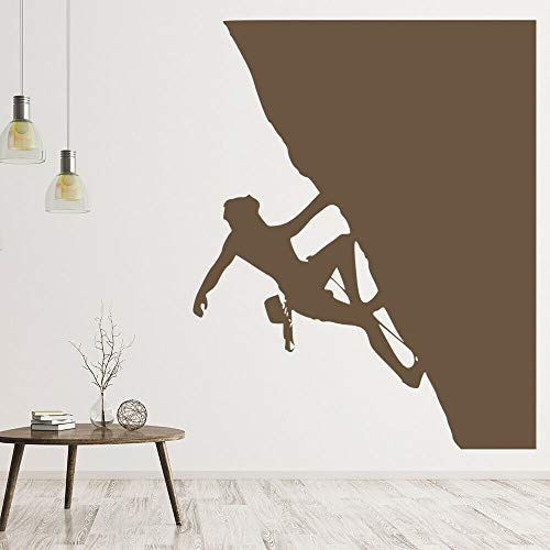 Geiqianjiumai Klettern Klettern Downhill Zimmer Wandtattoos Home Office Wandaufkleber dekorativ braun 57x71cm