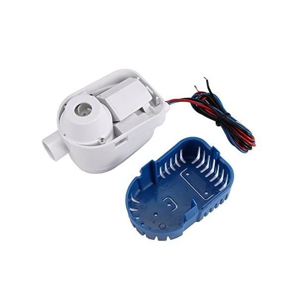 OurLeeme 1100GPH Boat 12V Marine Automatic Submersible Bilge Auto Water Pump