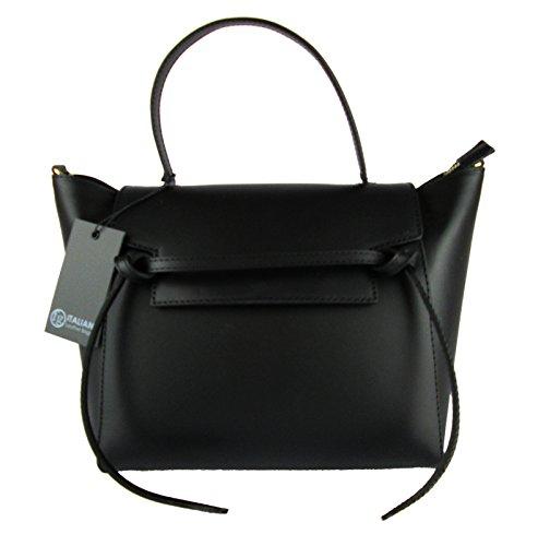 borsa-da-donna-elegante-vera-pelle-made-in-italy-belt-ispired-nero