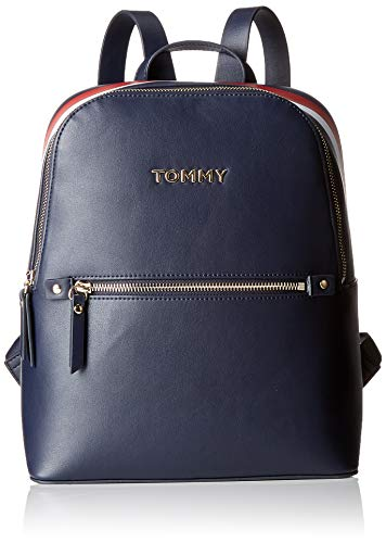 Front Pocket Tote (Tommy Hilfiger Damen Th Corporate Backpack Tote, Blau (Tommy Navy), 1x1x1 cm)