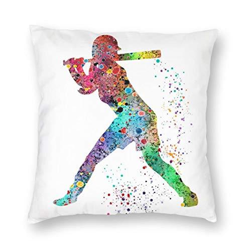 FunnyStar Barry Allan The Flash Kissenbezug 18 x 18 Inch Baumwolle Home Decorative Square for Sofa Throw Pillow Case, 45cm x 45cm -