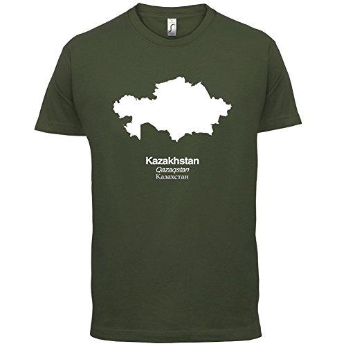 Kazakhstan / Kasachstan Silhouette - Herren T-Shirt - 13 Farben Olivgrün