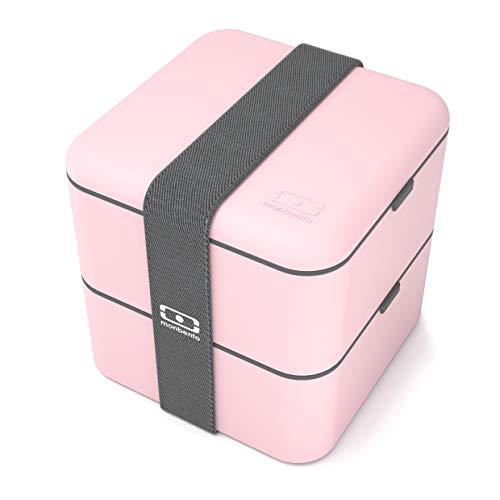 monbento MB 683371Bento Caja Fiambrera Cuadrada plástico Rosa 14,2x 14,2x 14,2cm