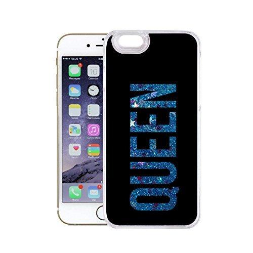 finoo   Iphone 6 Plus / 6S Plus Flüssige Liquid Blaue Glitzer Bling Bling Handy-Hülle   Rundum Silikon Schutz-hülle + Muster   Weicher TPU Bumper Case Cover   Elefanten Schaukel Hase Queen Black