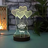 Giftsvalla Personalised Birthday LED Lamp for Couple, Boyfriend, Girlfriend, Wife, Husband, Brother, Sister, Wedding, Anniver