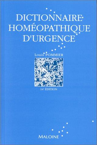 Dictionnaire homéopathique d'urgence, 14e édition