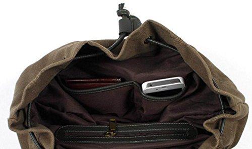 Fabelhaft Männliche Und Weibliche Studenten Freizeit Reisetasche Mode Leinwand Rucksack Gray