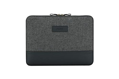 Incipio [Esquire Series] Sleeve Microsoft Surface Pro 6 / Pro (2017) & Pro 4 / Laptop / Laptop 2- Microsoft zertifizierte Schutzhülle [Type Cover Kompatibel I Fächer I Baumwolle] - schwarz