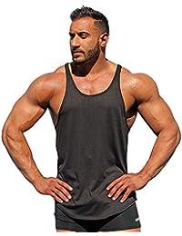 a5f545d6a41a BaZhaHei Surf Spiaggia Canotta Uomo Bodybuilding Tinta Unita Tank Senza  Maniche T-Shirt Muscolo Maglietta