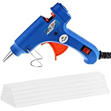 Maike High Mini Pistola de pegar con 30 unidades - Pegamento de alta temperatura schm elzkleb Kit de pistola flexible Trigger para DIY Kleine Craft de proyectos (de 20 W, Azul)