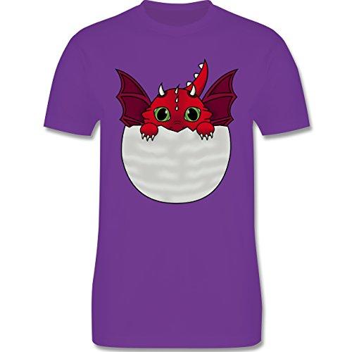 Sonstige Tiere - Süßer Baby Drache - Herren Premium T-Shirt Lila