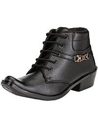 Server Men's Black Color Stylish Premium Quality Leather Lace Up Party Wear Shoe