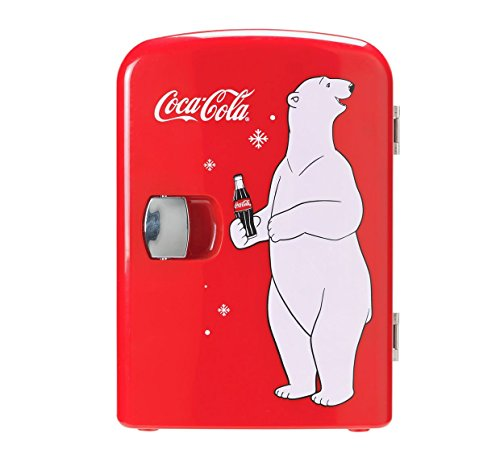 Coke mini frigo con orso