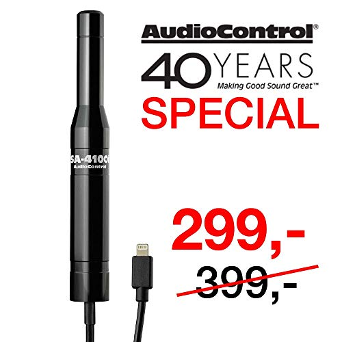AudioControl SA-4100i Test- & Mess-Mikrofon für iPod, iPhone & iPad (iOS) | Messmethoden: RTA/SPL/FFT/DQ-61 / Polarität | omnidirektionale Kapsel | 120dB | 20 Hz - 20 kHz+/- 3dB | inkl. App - Proprietäre Modul