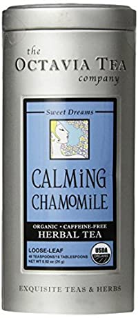 Octavia Tea Calming Chamomile (Organic, Caffeine-Free Herbal Tea), Loose Tea, 0.92 Ounce Tin