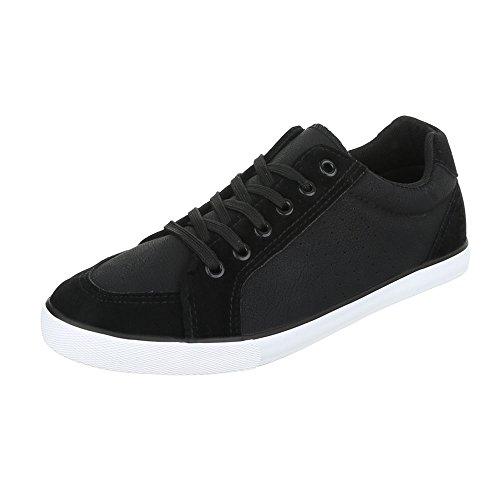 Ital-Design , Chaussures à lacets homme Noir