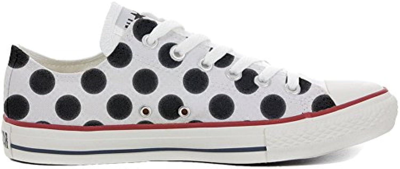 mys Converse All Star Low Customized Personalisiert Schuhe Unisex (Gedruckte Schuhe) Slim Pois Style