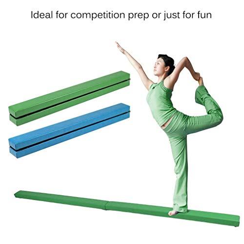 Schwebebalken Falten Gymnastik Schwebebalken Durable 2,4 m Horizontale Bar Heimtrainer Ausbildung Schwebebalken Haushalt Übung Aufkleber