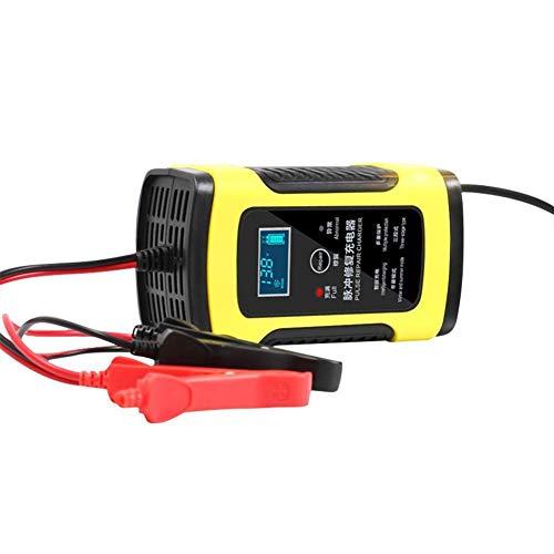Chargeur Et Entretien De Batterie De Voiture 6 Amp 6V 12V Recharge Automatique en 8 Étapes pour Moto Camion avec Écran LCD,EU