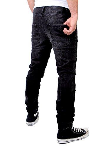 Jeans für Herren von VSCT im Destroyed Look schwarz Schwarz