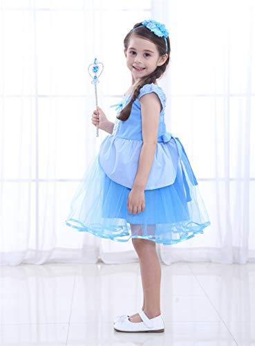 APJJ 2018 Halloween Cinderella Prinzessin Kleid Kleid Maskerade Party Tutu Für Mädchen,120 (Cinderella Kostüm Tutu)