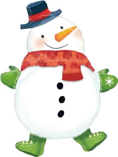 Amscan International ltd Christmas - Noel - Ballon en Alu - Bonhomme de Neige