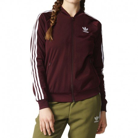 adidas SST Track Jacket maroon