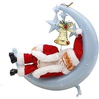 Garyesh Santa Sulla Luna Bambola Sonno Luce per Decorazione di Natale e Regalo (Blu) - Fare Christian Ornamenti