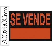 """Liderpapel - Cartel plastico """"se vende"""" rojo fluorescente 700x500 mm., color rojo"""