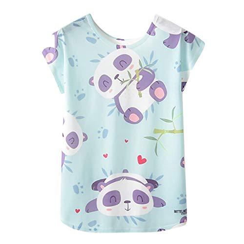 Bluse Damen Mädchen Geometrischer Animal Print O Neck Kurzarm Loses T Shirt Bluse