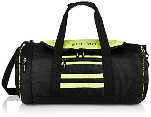 Solimo Gym Duffle Bag (31 Litres, Coal Black & Lime Green)