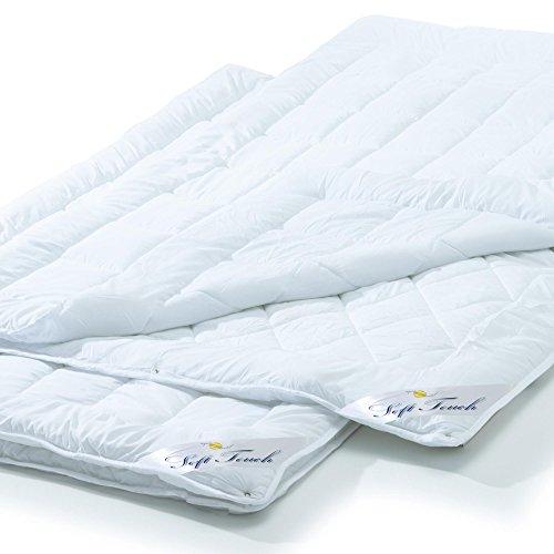 aqua-textil 2er Set, 4 Jahreszeiten Bettdecke 155x220 cm Steppdecke atmungsaktiv kochfest, Ganzjahres Steppbett für Winter und Sommer Soft Touch 0010957