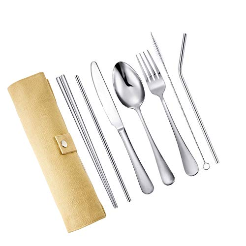 Fourchette 18//10 Acier Inoxydable Ustensile Camping Outdoor Spoon Fork Combo Salade