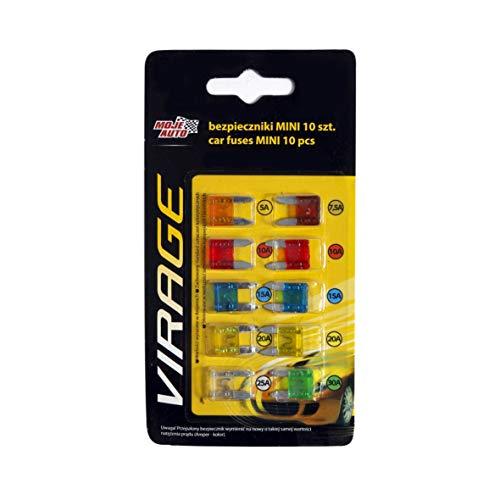 Preisvergleich Produktbild Jurmann Set Flache Auto-SICHERUNGEN - Mini Menge: 10