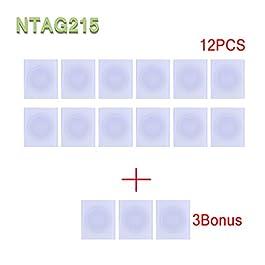 YiQing, NTAG215 NFC, adesivo ad alte prestazioni, etichette Amiibo TagMo compatibili, 25 mm, 15 pezzi