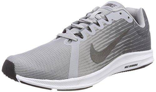 Nike Herren Downshifter 8 Laufschuhe, Grau (Wolf Grey/Metallic Dark Grey/Cool Grey/Black/White), 43 EU