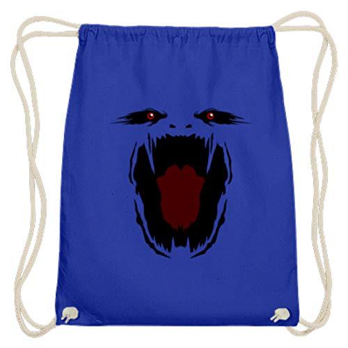 Hochwertige Baumwoll Gymsac - Monster Gesicht Gruselig Halloween - Schlichtes Und Witziges Design