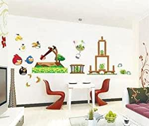 Xs 123 rio angry birds children 39 s room decor wall sticker for Angry bird wall mural