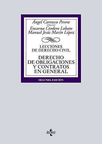 Derecho de obligaciones y contratos: Lecciones de Derecho Civil (Derecho - Biblioteca Universitaria De Editorial Tecnos)